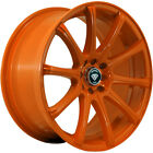 4 18x8 Orange Wheel White Diamond W3195 4x100 4x45 35
