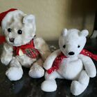 2000 HOLIDAY TEDDY TY Jingle Beanie Baby   and a bear with santa red cap