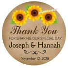 RUSTIC SUNFLOWER WEDDING BRIDAL SHOWER TAGS STICKERS LABELS FOR YOUR FAVORS
