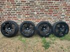 22 Inch Black Gloss AXE Design Alloy Wheels With Tyres
