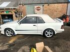 Ford Escort MK3 XR3i Cabriolet RS turbo look alike white lightning only 95k