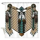 CafePress Native American Breastplate Shower Curtain 632085110