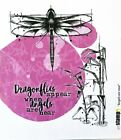 Carabelle Studio Cling Rubber Art Stamps Angels Are Near Dragonflies