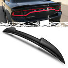 For 11 18 Dodge Charger Hellcat Style Gross Black ABS Trunk Deck Spoiler Wing