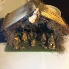 Vintage CHRISTMAS NATIVITY SET Manger Scene 11 Figures Made In ITALY Lighted