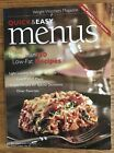 WEIGHT WATCHERS Magazine Quick  Easy Menus 130 recipes 98 Pages