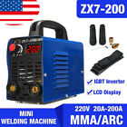 Zx7-200 200 Amp Dc Igbt Inverter Mini Digital Stick Welder Welding Machine Mma
