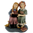 Boyds Bears Resin AMELIA & COLLEEN PLAYING SCHOOL Polyresin Dollstone 3590