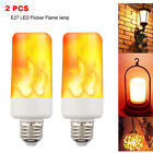 2 PACK LED Flame Effect Fire Light Bulb E27 Flickering Lamp Simulated Decorative