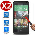 2X Real Tempered Glass Screen Protector Protection Guard Film for HTC Desire