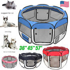 36 45 57 Pet Dog Cat Kennel Fence Puppy Playpen Exercise Portable Crate Cage
