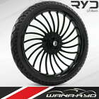 Ryd Wheels 30 Volt Black Wheel  Tire Package Harley Davidson Touring Bagger