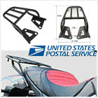 Universal Motorcycle Metal Rear Shelf Refitted Box Tail Fin Luggage Rack Black*1