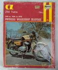 1974 TO 1978 CZ 250, TWINS 250 DELUXE, 250 CUSTOM REPAIR & TUNE UP MANUAL