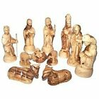 Olive Wood Deluxe Nativity Set 12 Pieces Set