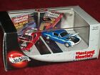 100  HOTWHEELS 1965  1967 FORD MUSTANG 2 CAR SET 1 64 w DISPLAY CASE