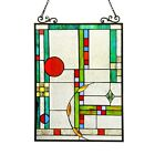 Hand crafted Tiffany Contemporary Stained Cut Glass 17 X 25 ONLY ONE THIS PRICE