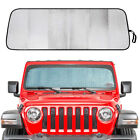 Portable Front Windshields Sunshade Anti UV Heat Covers for Jeep Wrangler JL Hot
