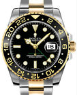 Rolex GMT-Master II 18k Gold & Steel Ceramic Automatic Watch & Box Z 116713