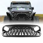 Shark Front Grille Grill Cover for 2007 2018 Jeep Wrangler JK JKU Accessories