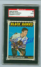 Fred Stanfield Autographed 1965-66 Topps RC #63 Blackhawks SGC Authentic Encased