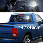 147x46cm Car SUV Rear Window Vinyl Decal Sticker Grim Reaper Cemetery Sticker