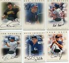 1996 Leaf Signature Series Autograph Lot of 11 Cards - 2 Bronze 3 Gold 6 Silver