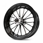 Ultima Manhattan Black Billet Aluminum 18 5.5 Rear Wheel Harley Chopper Bobber