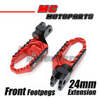 TRC 24mm Extend Red CNC Front Foot Pegs For Honda CBF600 08 09 10 11 12 13