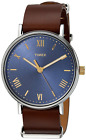 Timex TW2R28700, Men's Southview, Brown Leather Watch, Blue Dial