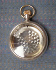 18S Crescent Century Silver Filled with a Gold Inlaid Train Open Face Case Only