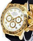 Rolex Zenith Daytona 18k Yellow Gold White Dial Chronograph Watch  N 16518