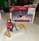 Dickensvale Ice Fishing Lemax 1994 Figurine for Christmas Village Town RARE HTF