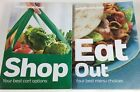 Weight Watchers SHOP and EAT OUT 2 Book Lot Best Cart Option Menu Choice PB 2014