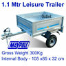 'SALE' Maypole Galv Trailer 1.1 Mtr MP6810 Leisure  DIY Trailer 300 Kg 8