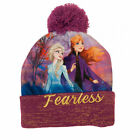 Frozen Fearless Purple Winter Youth Pom Beanie Purple