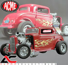 ACME A1805016 118 1932 FORD BLOWN 3 WINDOW HOT ROD FLAMETHROWER RED