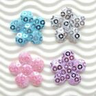80 pcs x 7 8 Padded Shiny Sequined Felt Flower Appliques Christmas Crafts ST256