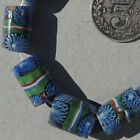 10 old antique small venetian tubular millefiori african trade beads 4812
