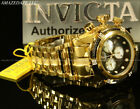New Invicta Men 52mm 18K GP High Polished Stainless St Bolt Zeus Chrono Watch !!