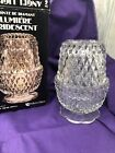 Indiana Glass Angel Light Diamond Point Clear Candle Holder With Box
