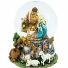 55 Snow Globe Christmas Nativity Scene Holiday Tabletop Decor Gift Musical NEW