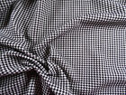 Bullet Printed Liverpool Textured Fabric Stretch Houndstooth Black White T104
