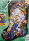 TIFFANY NATIVITY STOCKING Bucilla CROSS STITCH KIT 34101 Baby Jesus Christmas