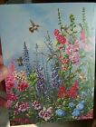 Beautiful HUMMINGBIRD Flowers Blank Greeting Card by Leanin Tree