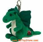TY Beanie Baby - DEWI Y DDRAIG the Dragon ( Metal Key Clip - UK Welsh Exclusive