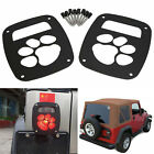 2pcs Rear Tail Light Guard Cover for Jeep Wrangler TJ YJ 1987-2006 DOG PAW Style