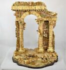 DEPARTMENT 56 Neapolitan Nativity Ruins Backdrop Cherubs with Box Used