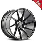 4ea 19 Staggered Savini Wheels BM15 Gloss Black Concave Rims S2