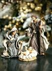 Nativity Scene Figurine Set Lifelike Holy Family Mary Joseph Baby Jesus Tabletop